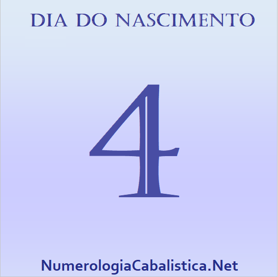 Dia do nascimento 4 – PERSISTÊNCIA